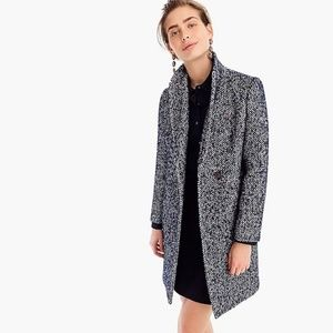 NWT J. Crew Daphne Topcoat in Italian Tweed